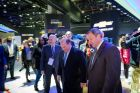Detroit Mayor Duggan Tours Chevy Stand