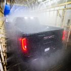 2019 GMC Sierra Denali CarbonPro testing in water spray booth